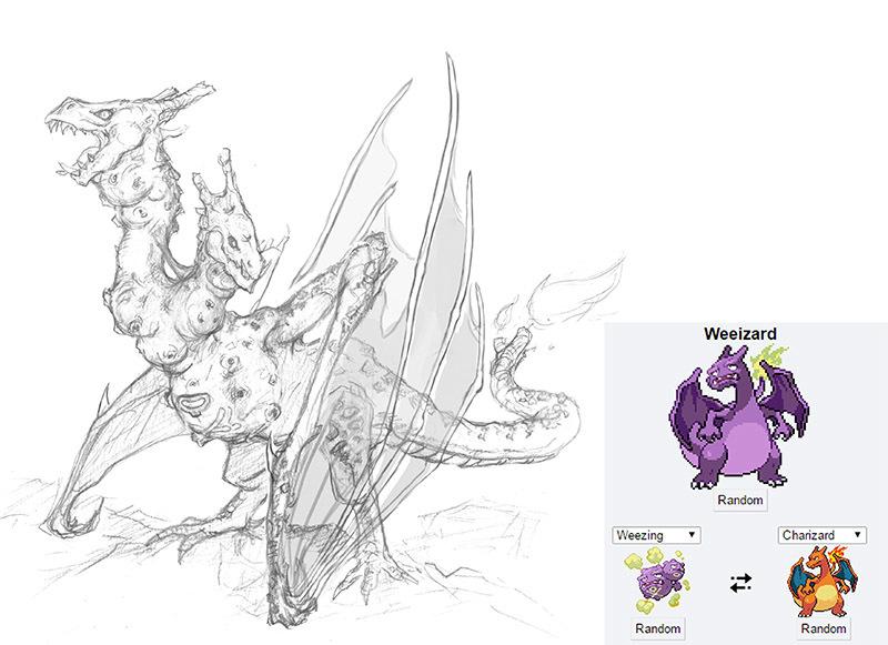 The Line Art Challenge : Pokemon fusion art critique forums cubebrush