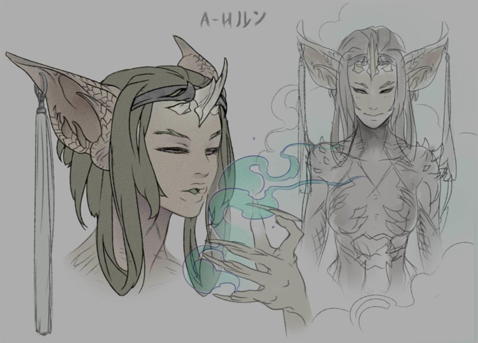 Line Art Dragon : Art war d iroun the dragon centaur kiguri