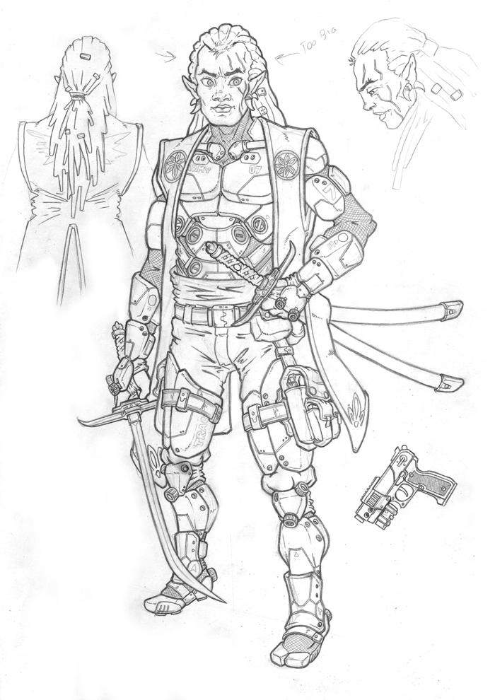 Drow Warrior Fantasy Art