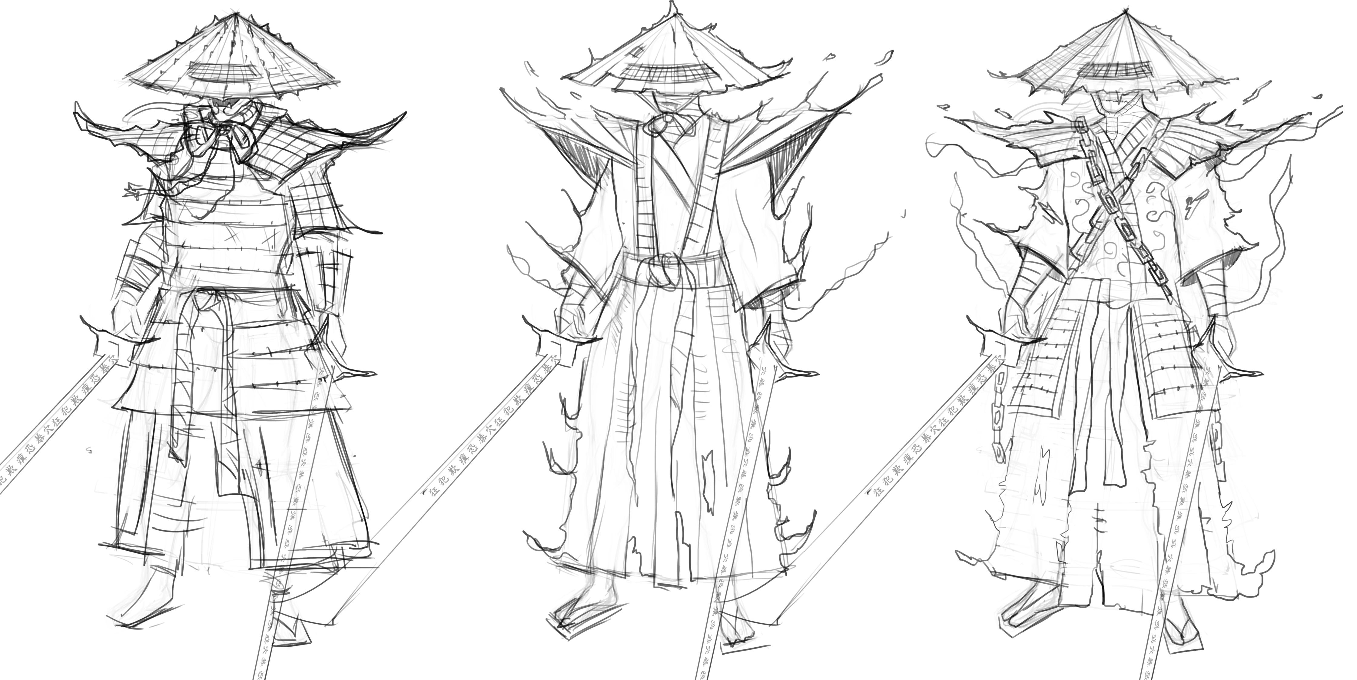 art war 2d samurai demon summoner cleverboi art