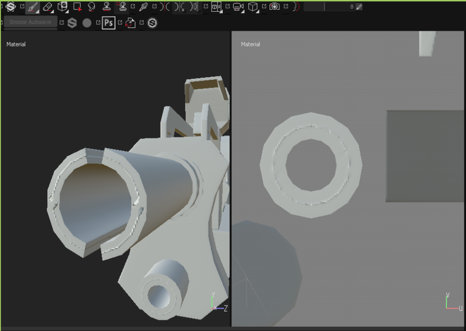 BAD Hard Surface Normal Map Bakes in S Painter? - Help
