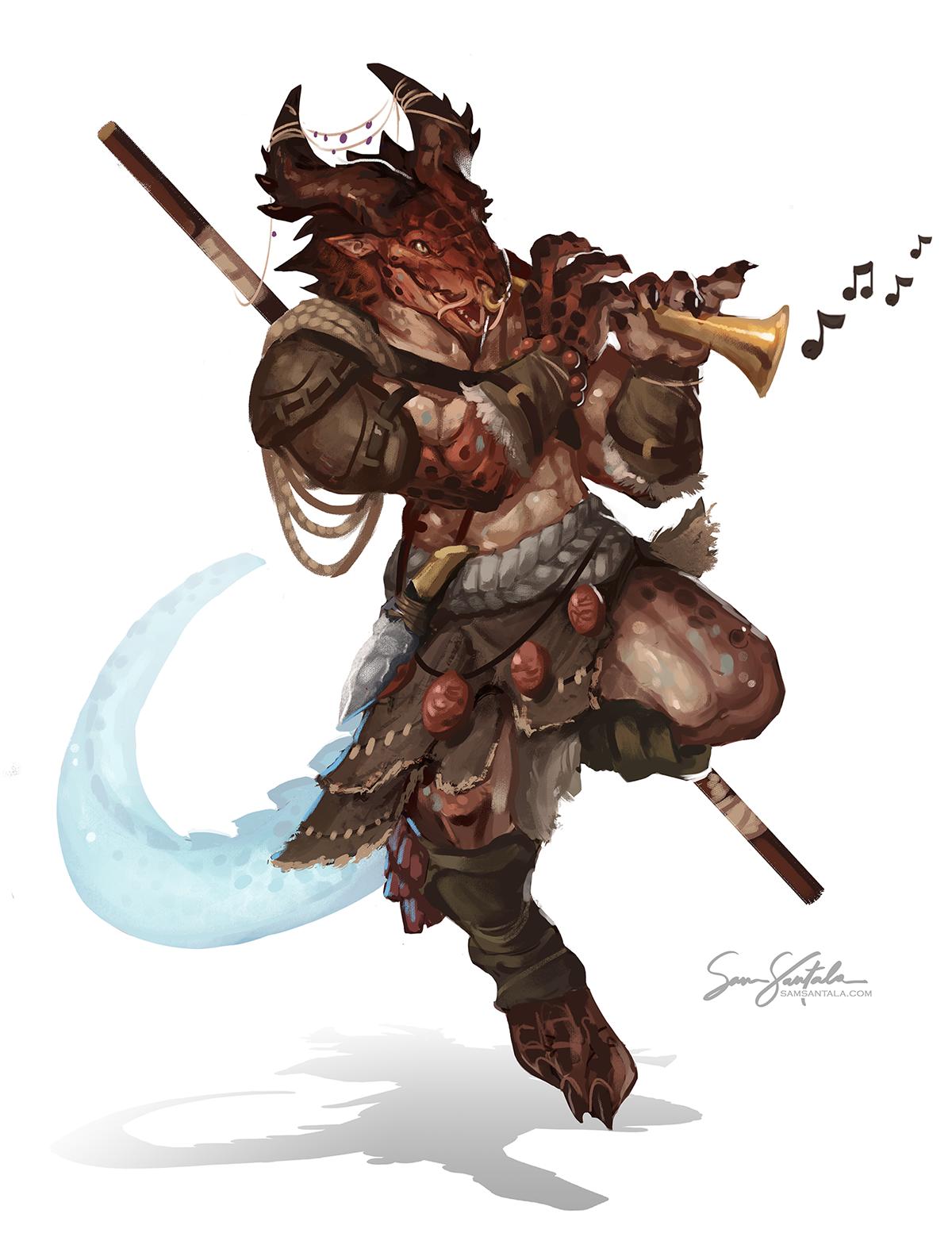 Faeraxx - Dragonborn Bard (DnD) - Finished Works - Forums - Cubebrush