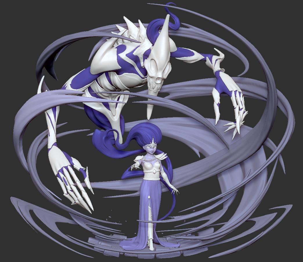 ART WAR 3   3D   Villains   Myrea The Dark Summoner