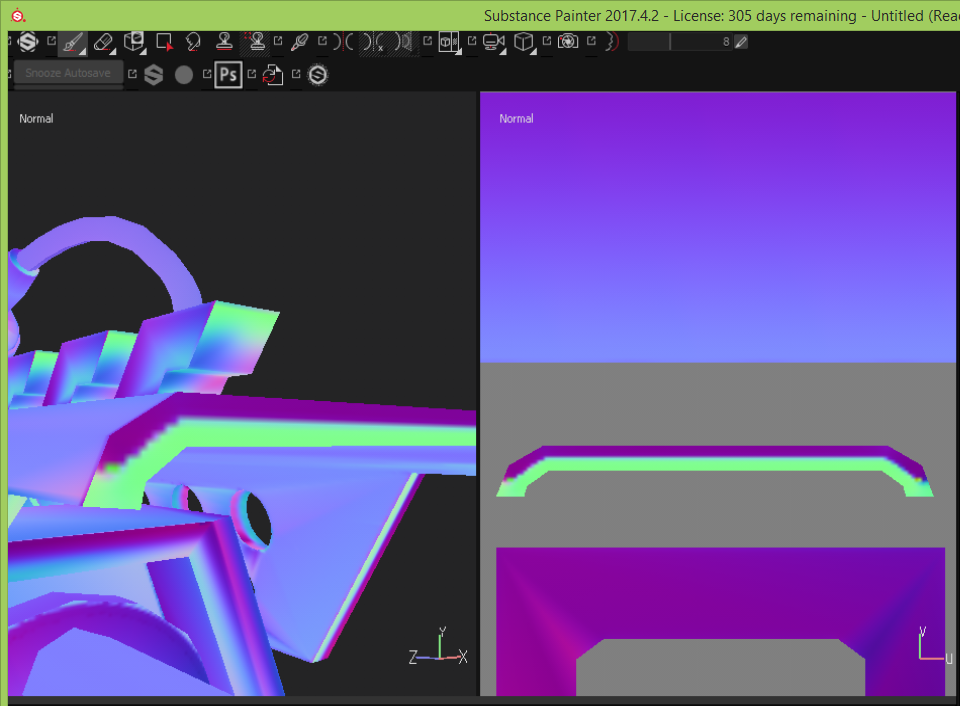 BAD Hard Surface Normal Map Bakes in S Painter? - Help Center
