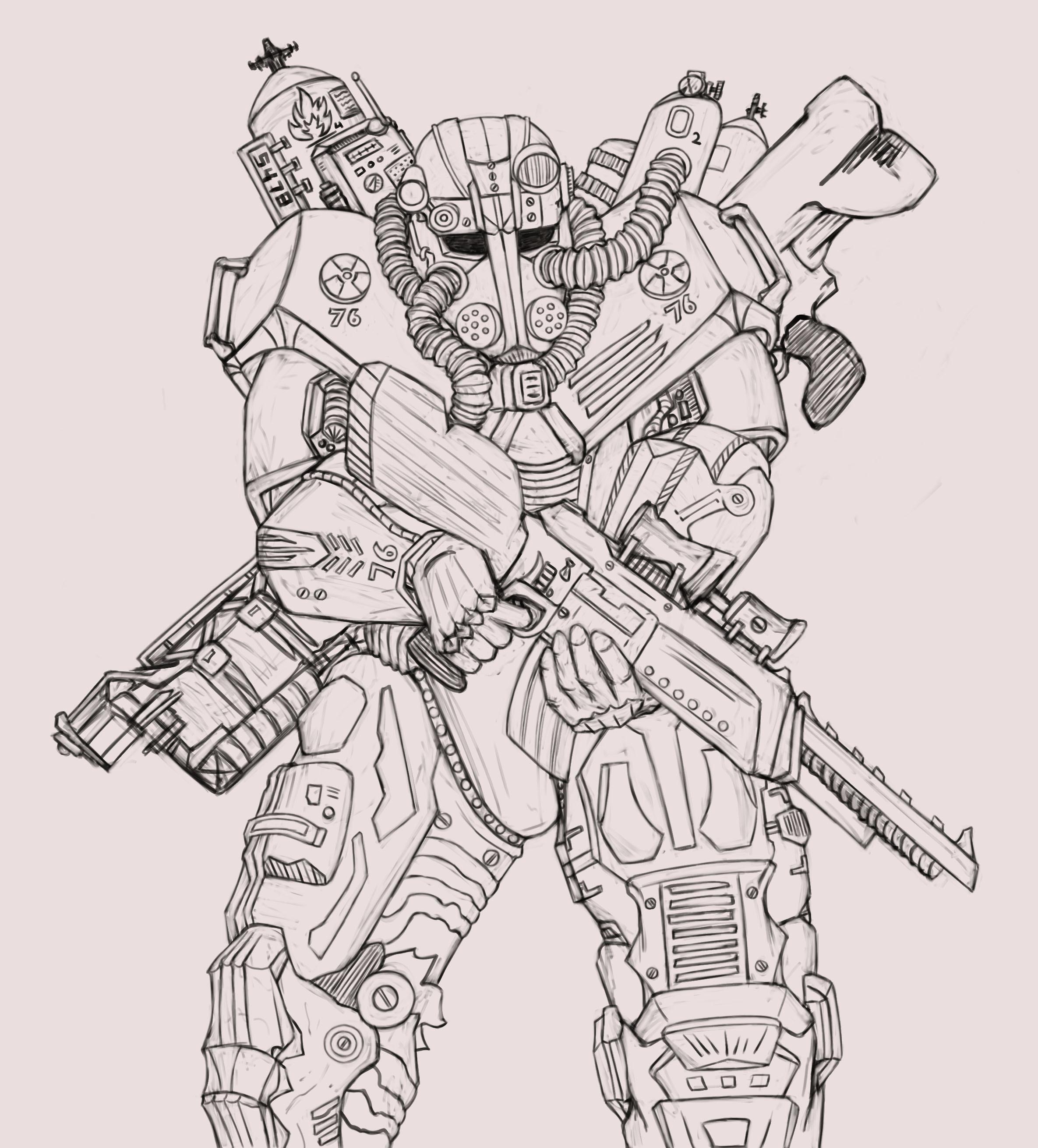 Character Concept Line Art